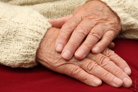 elderly hands